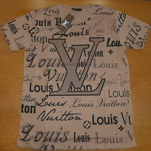 LOUIS VUITTON MEN CAMEL COTTON T-SHIRT